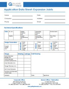 Expansion Joint - Application Data Sheet