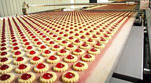 Pastries on a Conveyor Belt