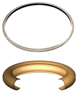 picture of c-ring metal seals