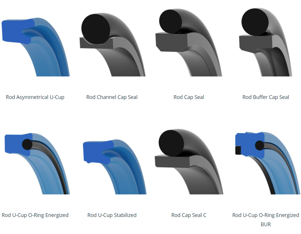picture of rod seal profiles